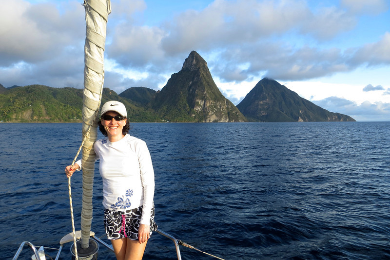 Fabulous day on the boat and taking in the stunning scenery! -St. Lucia