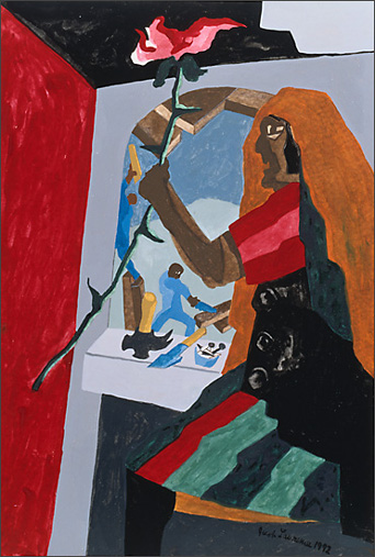 "Jacob Lawrence, ""Woman With Flower"" (1994)"