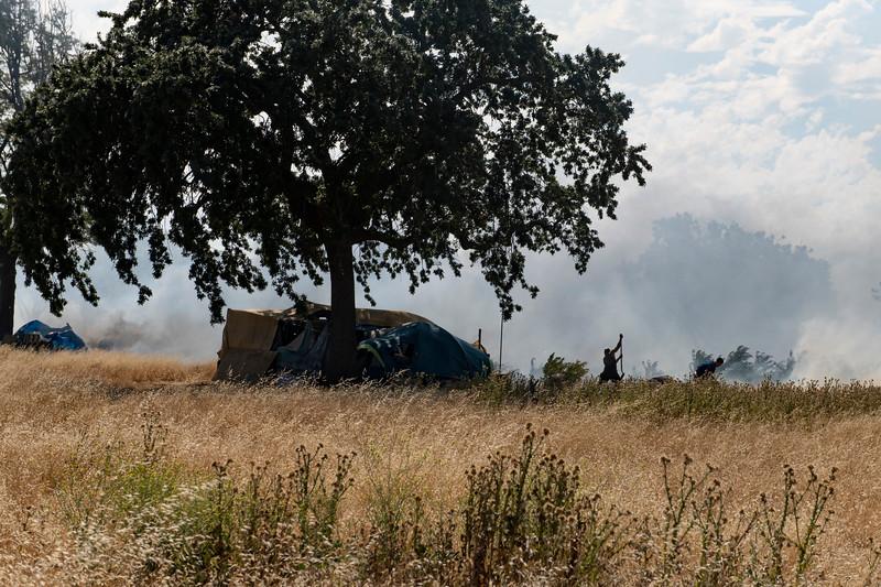 Homeless Encampment Fire_San Jose