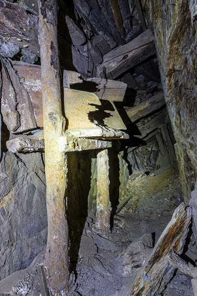 A chute in the mine