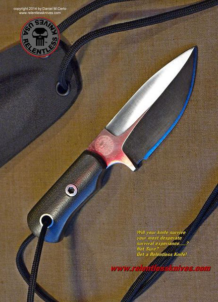 Relentless Knives M1 SubCompact Military Survival knife