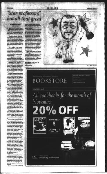 Daily Trojan, Vol. 150, No. 46, October 30, 2003