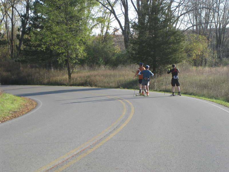 On the road at Island Lake. Great pavement.
