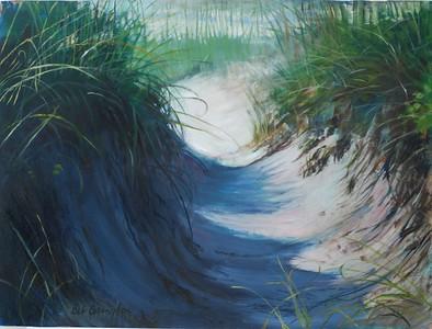 """SAND ART"" (oil) by Deb Covington"