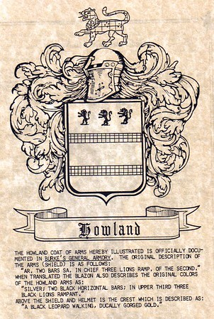 Howland Coat of Arms / Crest