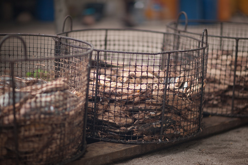 The would drop the filets in these baskets and then boil them.
