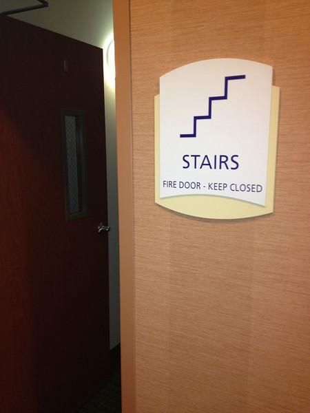 Open door in our hotel. No good