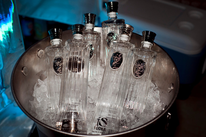 Photographs at IS Vodka party for employees, investors and Board Members of IS Vodka. IS Vodka http://www.isvodka.com is a super-pure, ulta-premium vodka distilled 7 times, mixed with glacier water from the land of ice and snow - Iceland.