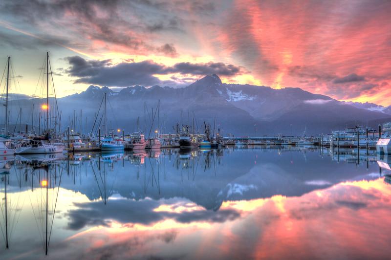 Ressurection Bay Reflections Sunrise