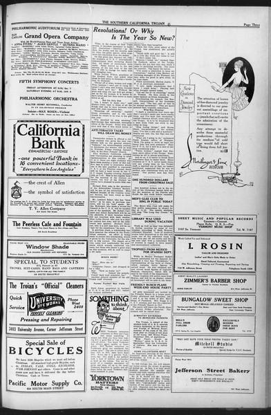 The Southern California Trojan, Vol. 12, No. 47, January 05, 1921
