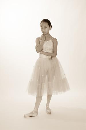 Ballerina in Sepia