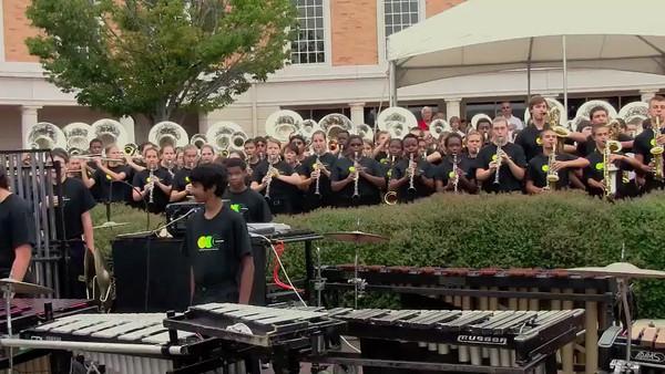2012-08-24-Cary HS Marching Band - Lazy Daze