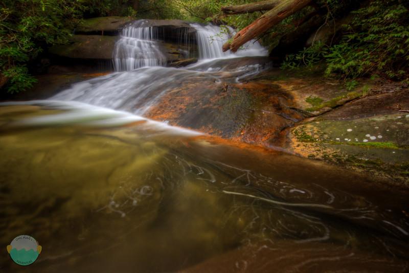 Upper Waterfall On Cedar Rock Creek