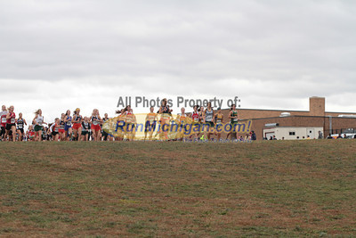 Girls JV Division 3 & 4 at Start & 800M Mark - 2012 Portage Invite