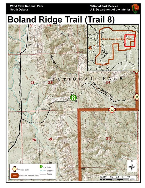 Wind Cave National Park (Boland Ridge Trail)