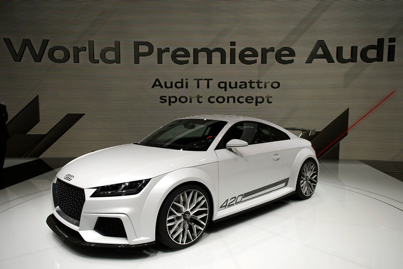 . The new Audi TT quattro sport concept is presented during the press day at the 84rd Geneva International Motor Show in Geneva, Switzerland, Tuesday, March 4, 2014. The Motor Show will open its gates to the public from 06 to 16 March presenting more than 250 exhibitors and more than 146 world and European premieres.  EPA/MARTIAL TREZZINI