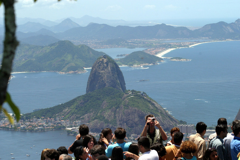 From the Corcovado, Sugar Loaf  and the crowds. 2004