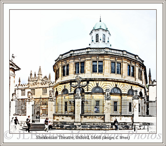 Sheldonian Theatre designed by Christopher Wren 1664-1668 on the campus of Oxford University