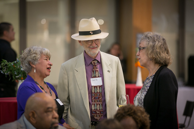 Guests attend an open house for the LifeLong Center in Berkeley, Calif.