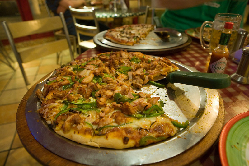My 12 inch Chicken Tikka Masala pizza
