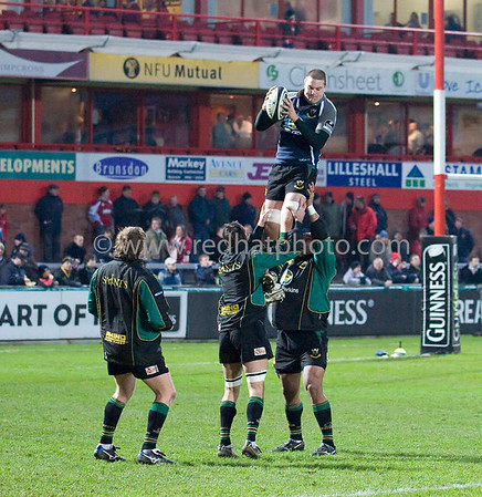 Gloucester vs Northampton Saints, Guinness Premiership, Kingsholm, 29 November 2008
