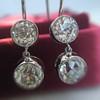 3.07ctw Double Old European Cut Dangle Earrings 0