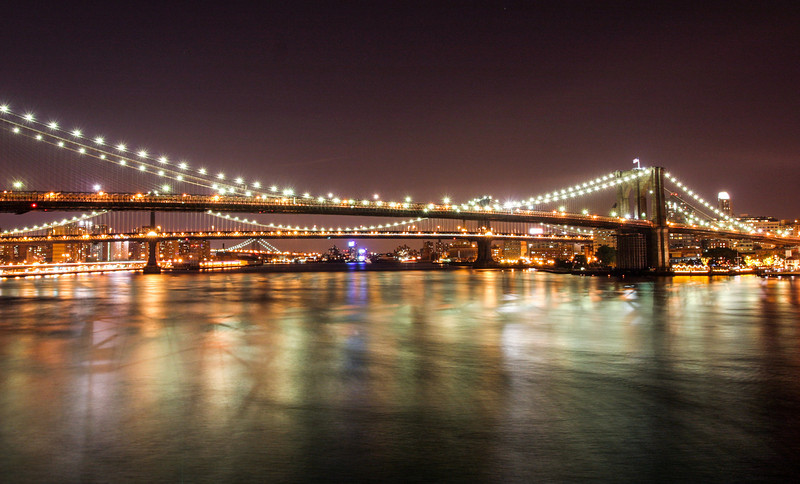 Brooklyn Bridge from South Street Seaport