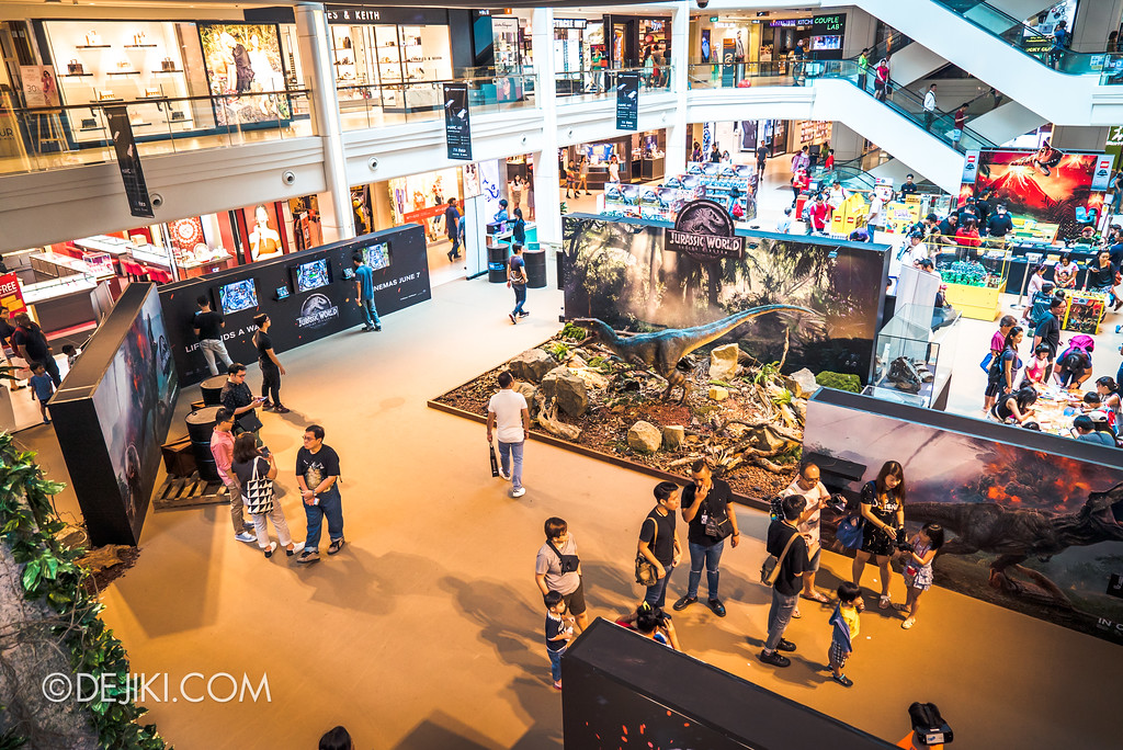 Universal Studios Singapore Park Update - Jurassic World Explore and Roar roadshow at Plaza Singapura overview