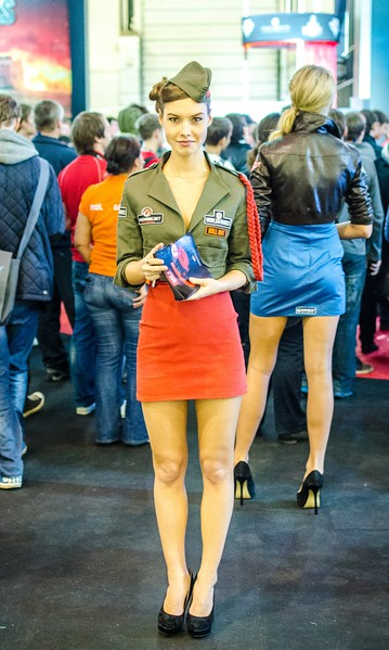 Army girl at Igromir 2012