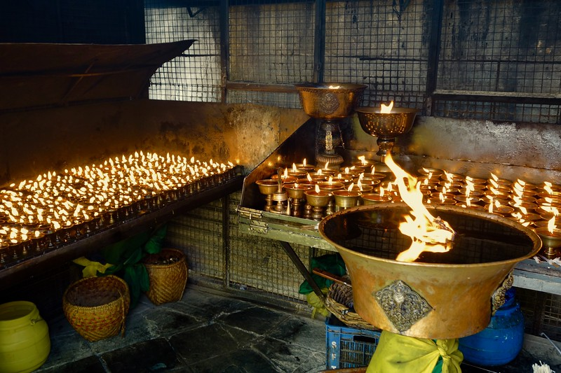 prayer lamps, Boudhanath