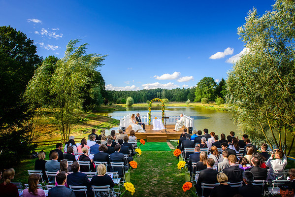 French wedding and reception