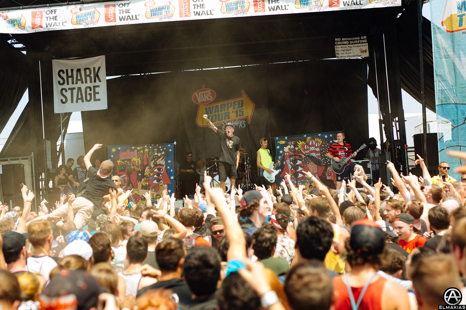 Neck Deep live at Vans Warped Tour 2015 by Adam Elmakias
