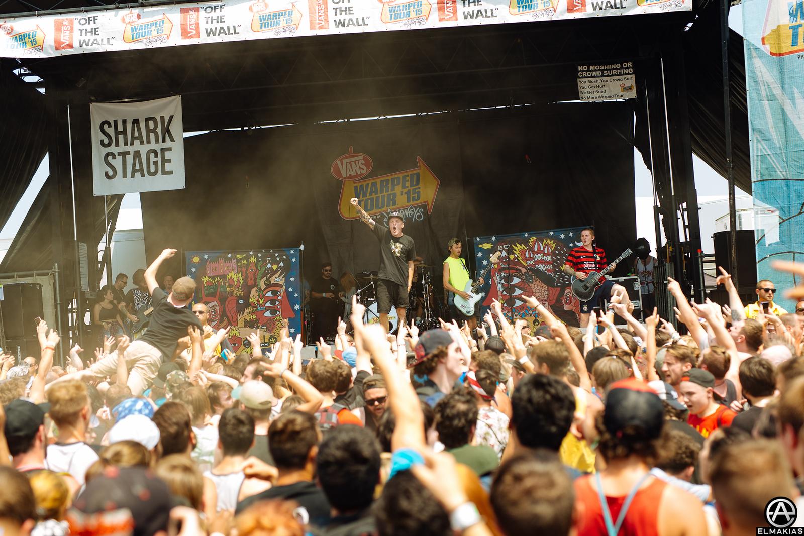 Neck Deep live at Vans Warped Tour 2015 by Adam Elmakias