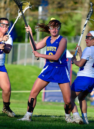 5/8/2019 Mike Orazzi | Staff Housatonic Regional's Genevieve Bushey (8) during Wednesday's girls lacrosse in Bristol.