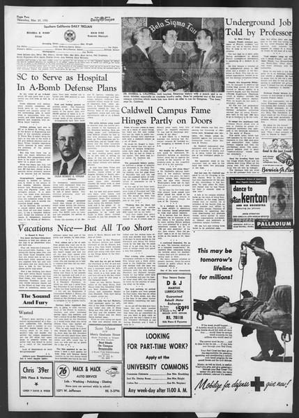 Daily Trojan, Vol. 42, No. 97, March 29, 1951