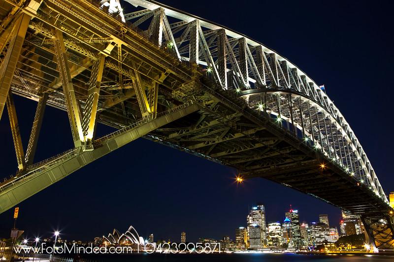 A classic shot of Sydney Harbor Bridge + Opera House + CBD