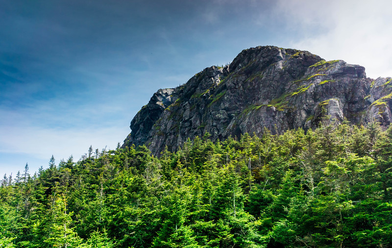 The sun came out for a moment atop Mount Mansfield.