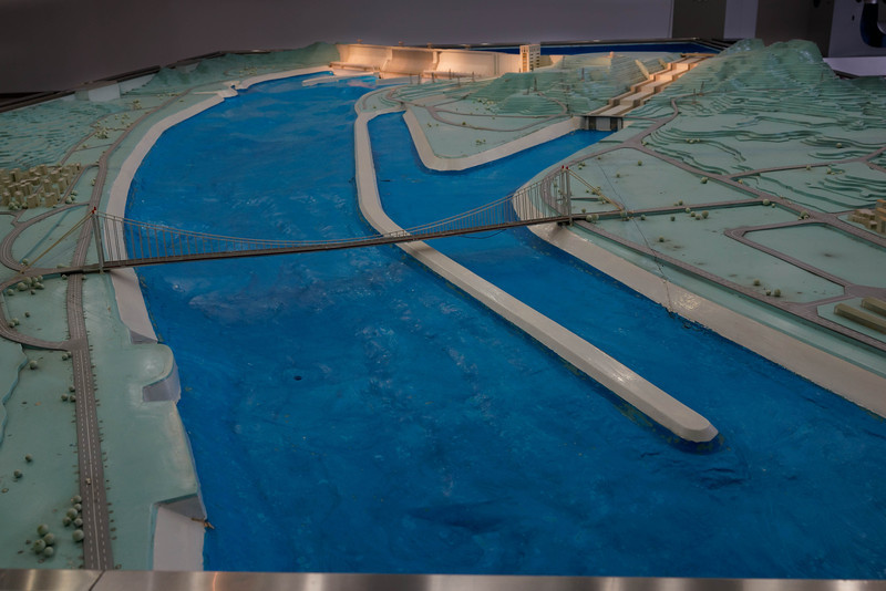 Model of Three Gorges Dam and lock system