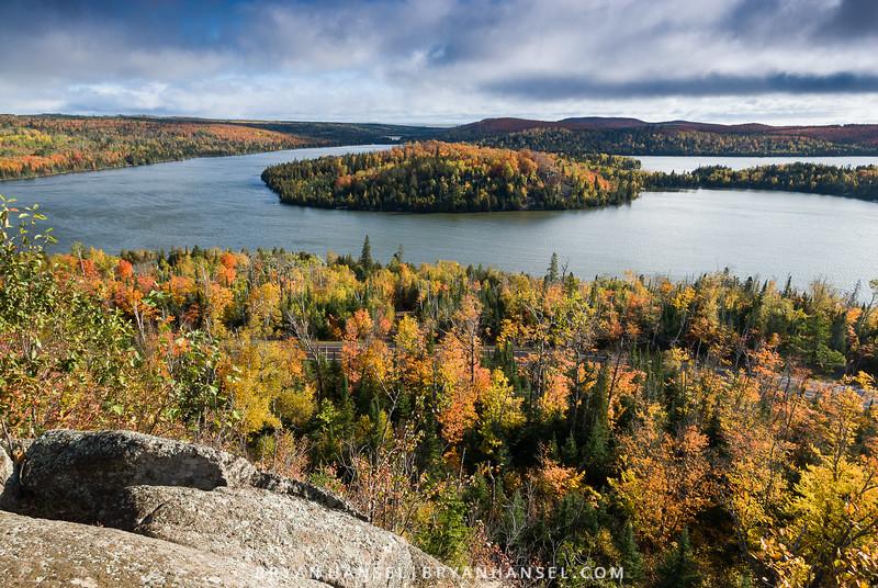 White Sky Rock Fall Color