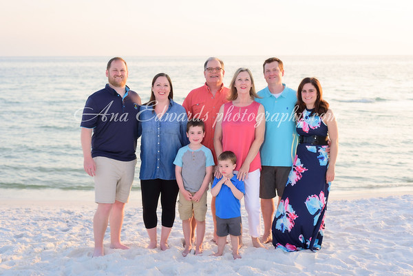 The Peebles family  |  Seagrove Beach