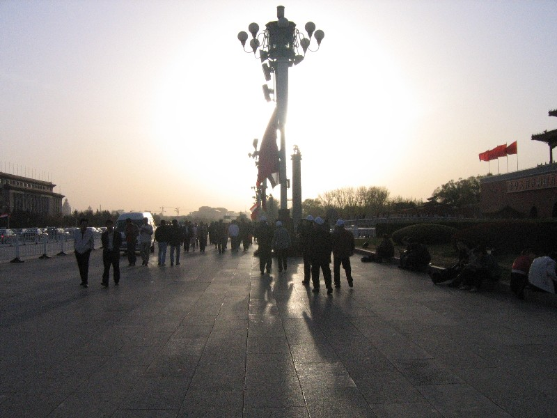 Sun on Tiananmen