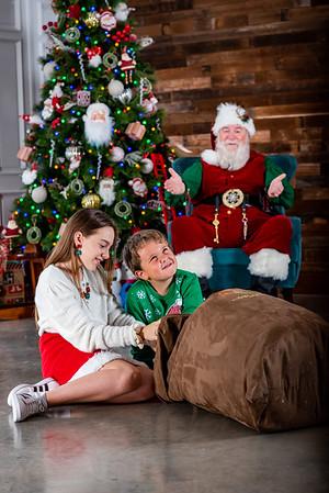 Gracie & William with Santa