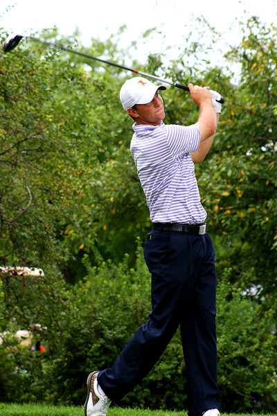 Luke Guthrie of Quicy, Ill., tees off in the second round Wednesday.