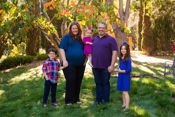Fall Family Photos - Villa Montalvo