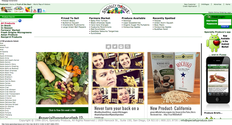 Specialty Produce - San Diego's Best Wholesale Distributor