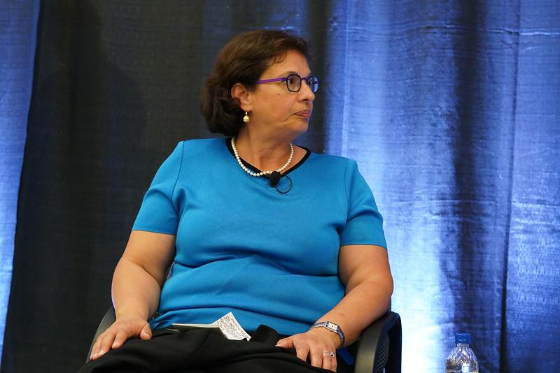 Sonia Nazario speaks in the Forum.