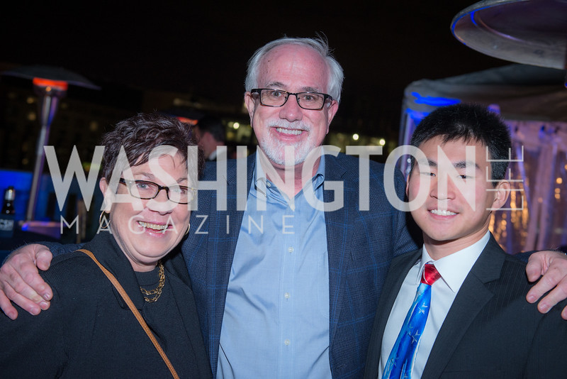 Lynne Stewart, Bill Stewart, Ryan Stewart, Capitol Seniors Housing, 15th Anniversary Party.  November 8, 2018. Photo by Ben Droz.