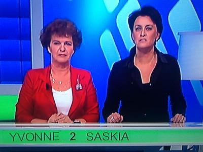 2012-1122 Saskia & Yvonne on TV in Lingo