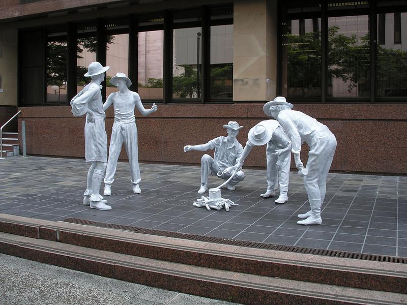 White statues - Brisbane