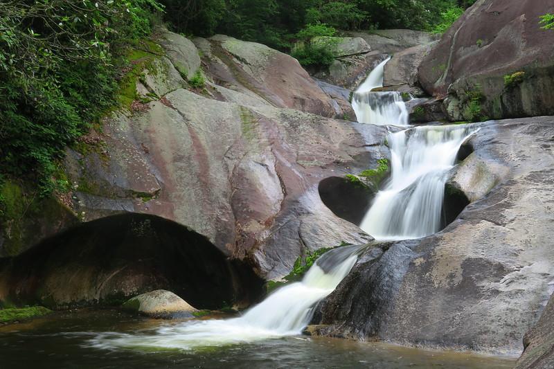 Steele's Creek Falls, Burke County (6-24-17)